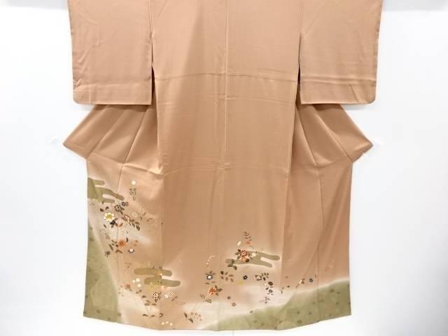 【IDnet】 作家物 金彩ヱ霞に唐花模様色留袖【リサイクル】【中古】【着】