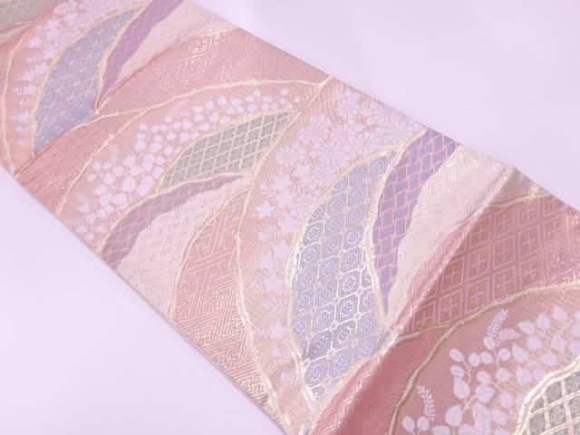 【IDnet】 佐賀錦秋草に古典柄模様織出し袋帯【リサイクル】【中古】【着】