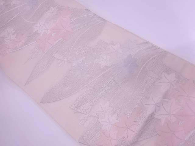 【IDnet】 紗 楓模様織出し袋帯【リサイクル】【中古】【着】