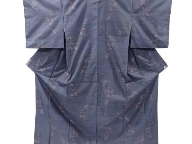【IDnet】 花模様織り出し本場泥大島紬着物アンサンブル【リサイクル】【中古】【着】