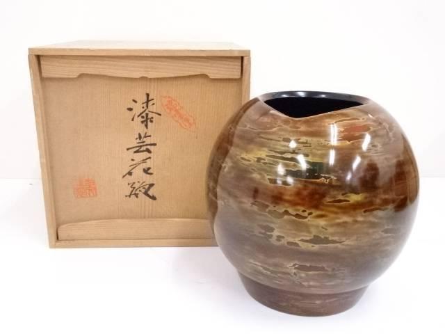 【IDnet】 漆芸花瓶【中古】【道】