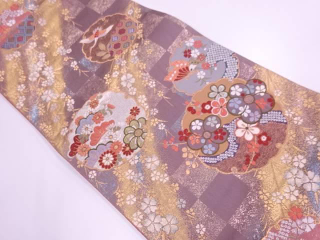 【IDnet】 青海雪輪紋織出し袋帯【リサイクル】【中古】【着】