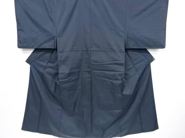 【IDnet】 東京英謹製 亀甲模様織り出し着物アンサンブル(キングサイズ) 兵児帯セット【リサイクル】【中古】【着】