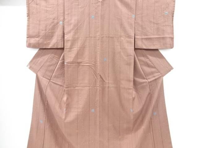 【IDnet】 絞り線描きに水玉模様手織り経節紬着物【リサイクル】【中古】【着】