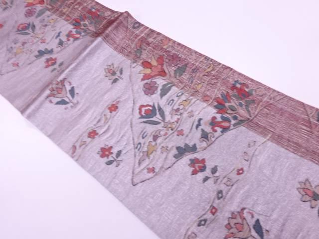 【IDnet】 未使用品 すくい織草花模様織出し袋帯【リサイクル】【着】