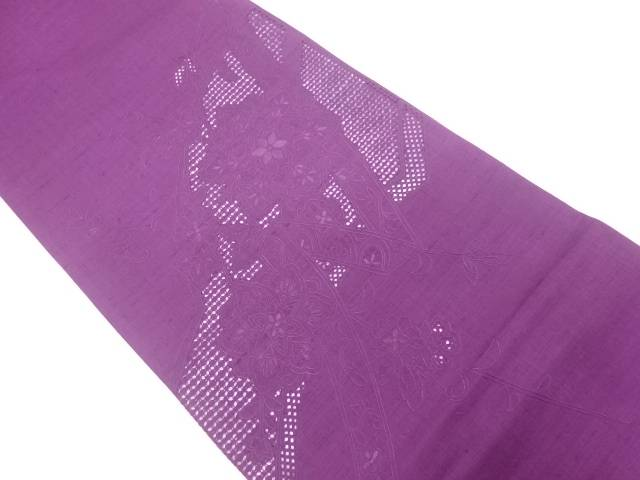 【IDnet】 未使用品 相良刺繍熨斗に華紋・花唐草模様袋帯【リサイクル】【着】
