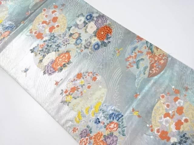 【IDnet】 花鳥丸紋織り出し袋帯【リサイクル】【中古】【着】