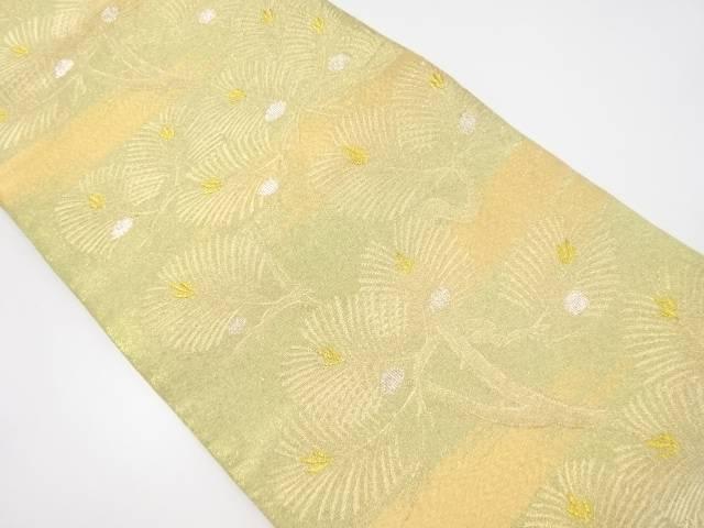 【IDnet】 本金若松模様織り出し袋帯【リサイクル】【中古】【着】