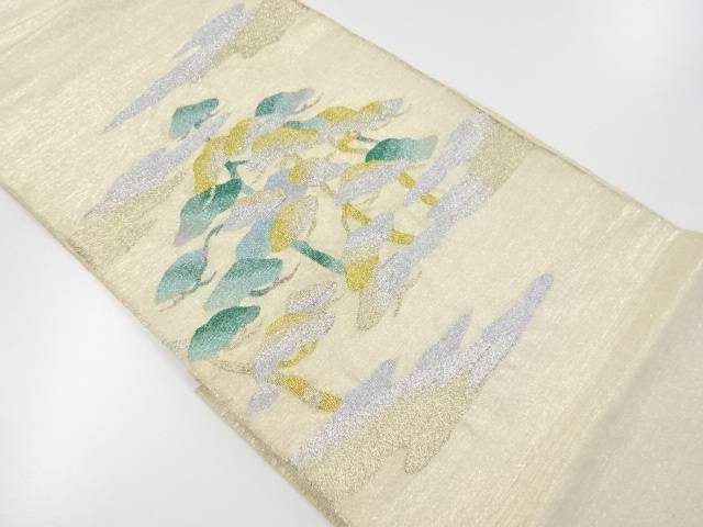 【IDnet】 綴れ霞に松模様織り出し袋帯【リサイクル】【中古】【着】