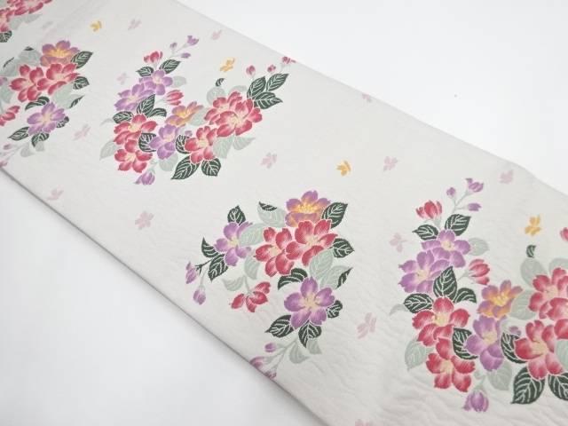【IDnet】 花模様織り出し袋帯【リサイクル】【中古】【着】