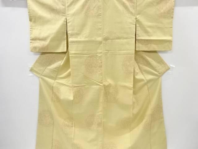 【IDnet】 向かい鳳凰紋織り出し十日町紬着物【リサイクル】【中古】【着】