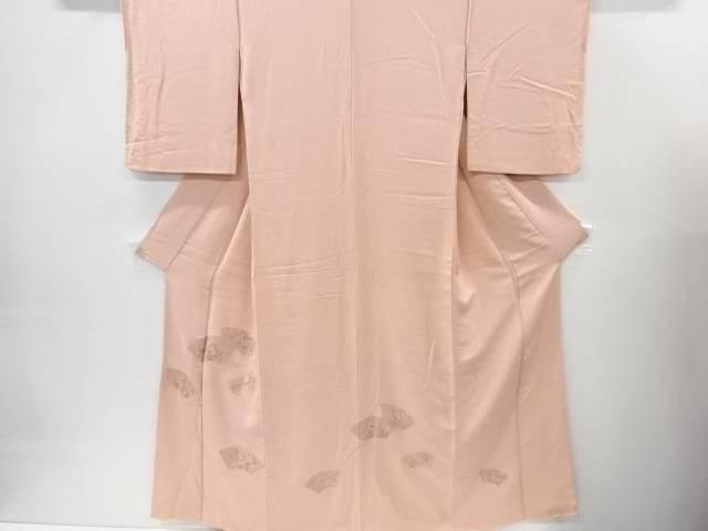 【IDnet】 蘇州刺繍地紙に梅菊笹模様色留袖【リサイクル】【中古】【着】