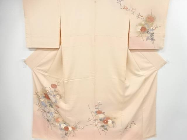 【IDnet】 金彩菊模様一つ紋訪問着【リサイクル】【中古】【着】