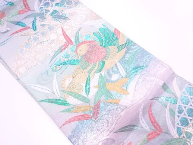 【IDnet】 蛇籠に鴛鴦模様織出し袋帯【リサイクル】【中古】【着】