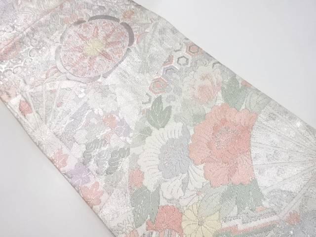 【IDnet】 佐賀錦扇面に華紋更紗模様織り出し袋帯【リサイクル】【中古】【着】