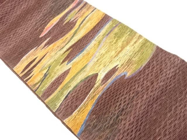 【IDnet】 すくい織り霞模様織り出し袋帯【リサイクル】【中古】【着】