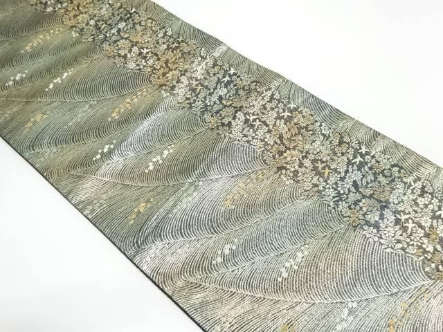 【IDnet】 金糸花鳥模様織り出し袋帯【リサイクル】【中古】【着】