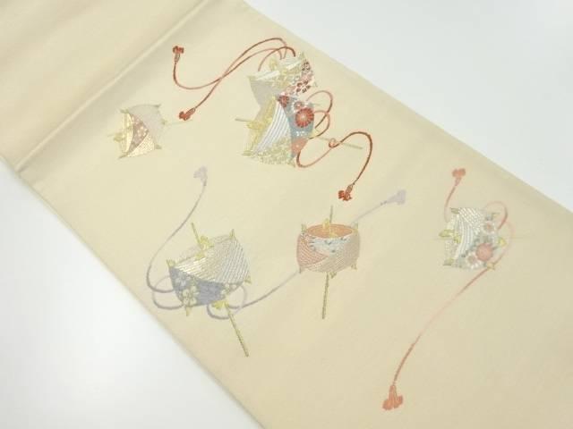 【IDnet】 金銀糸糸巻き模様織り出し袋帯【リサイクル】【中古】【着】