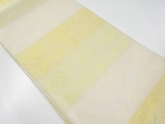 【IDnet】 未使用品 金銀糸花模様織り出し全通袋帯【リサイクル】【着】