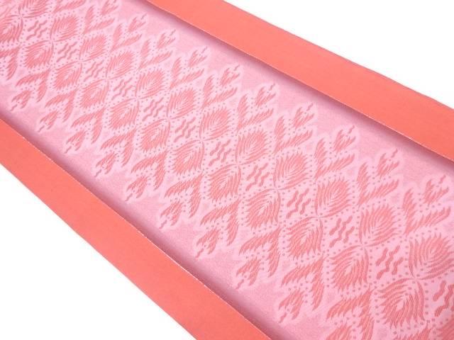 【IDnet】 未使用品 縞に抽象模様織出し全通袋帯【リサイクル】【着】