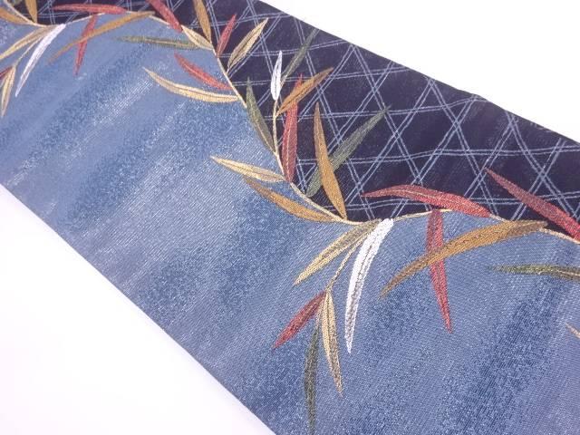 【IDnet】 籠目に笹模様織出し袋帯【リサイクル】【中古】【着】