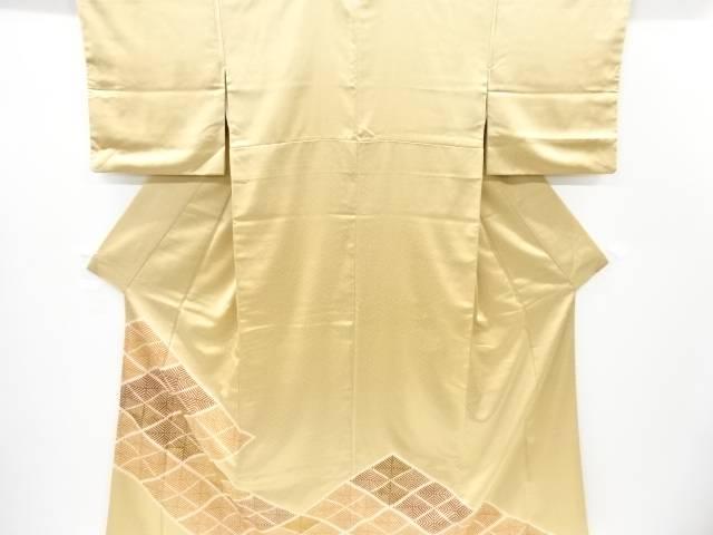 【IDnet】 松葉菱模様刺繍一つ紋色留袖【リサイクル】【中古】【着】