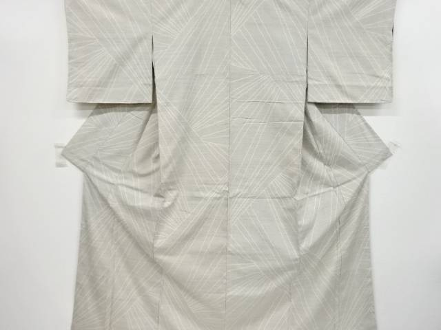【IDnet】 変わり線描き模様織り出し手織り紬着物【リサイクル】【中古】【着】
