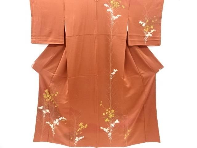 【IDnet】 金彩蔦の葉に菊模様訪問着【リサイクル】【中古】【着】