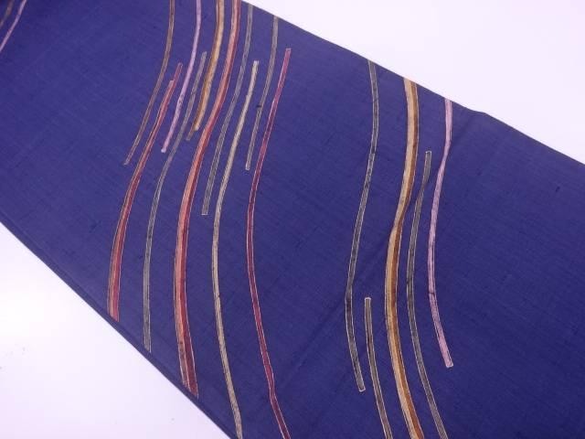 【IDnet】 作家物 手織り紬抽象模様袋帯【リサイクル】【中古】【着】