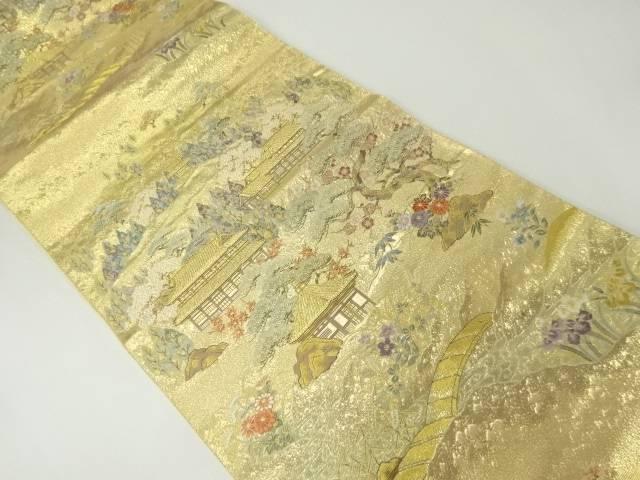 【IDnet】 金彩家屋に松竹梅模様織り出し袋帯【リサイクル】【中古】【着】
