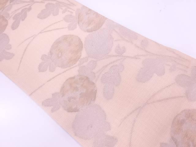 【IDnet】 紗 万寿菊模様織出し袋帯【リサイクル】【中古】【着】