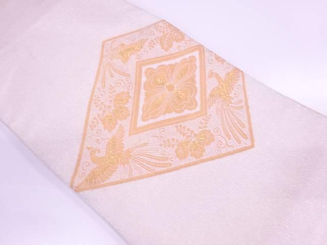 【IDnet】 純金糸24金箔綴れ花菱に桐・鳳凰模様織出し袋帯【リサイクル】【中古】【着】