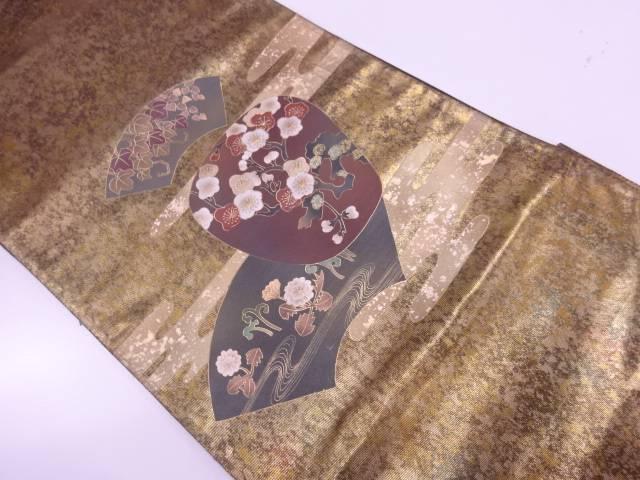 【IDnet】 金彩地紙に梅模様袋帯【リサイクル】【中古】【着】