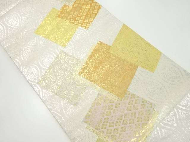 【IDnet】 金糸色紙に古典柄織り出し袋帯【リサイクル】【中古】【着】