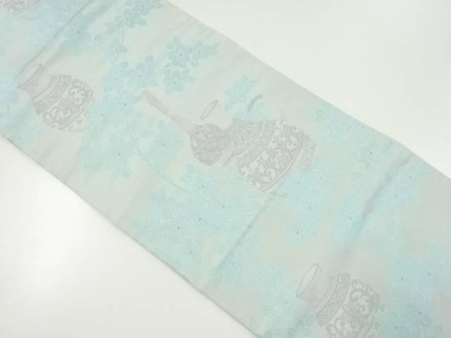 【IDnet】 渡文製 朱雀織花瓶模様織り出し名古屋帯【リサイクル】【中古】【着】
