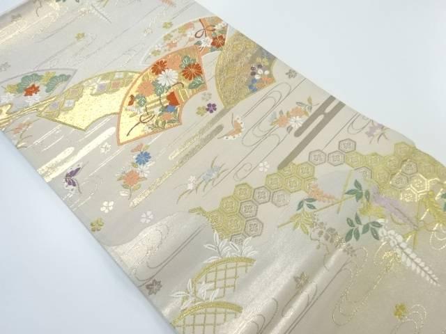 【IDnet】 扇面道長紋織り出し袋帯【リサイクル】【中古】【着】