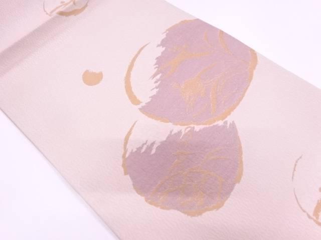 【IDnet】 未使用品 丸紋に亀・草花模様織出し袋帯【リサイクル】【着】