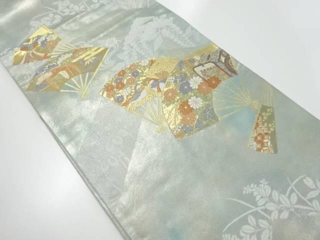 【IDnet】 本金扇面に花鳥模様織出袋帯【リサイクル】【中古】【着】