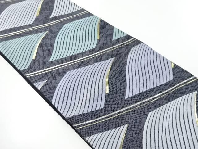 【IDnet】 宮田織物製 瓦模様織り出し袋帯【リサイクル】【中古】【着】