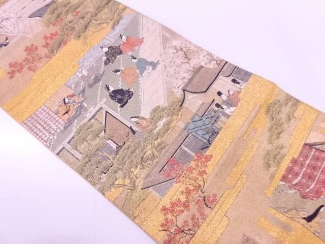 【IDnet】 竹取物語模様織出し袋帯【リサイクル】【中古】【着】