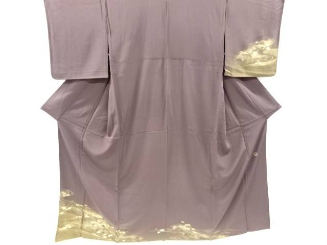 【IDnet】 TOKI志すい 金彩箔置流水に雲模様一つ紋単衣訪問着【リサイクル】【中古】【着】