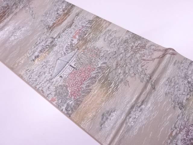 【IDnet】 引箔日本百景模様織出し袋帯【リサイクル】【中古】【着】