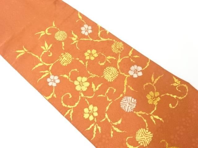 【IDnet】 純金箔笹蔓文様織り出し袋帯【リサイクル】【中古】【着】