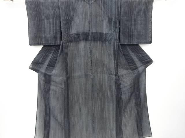 【IDnet】 紗紬変わり縞模様着物【リサイクル】【中古】【着】