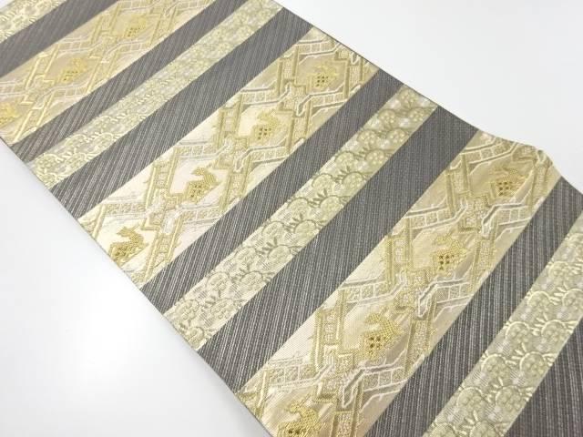 【IDnet】 純金横段に有栖川文様織り出し袋帯【リサイクル】【中古】【着】