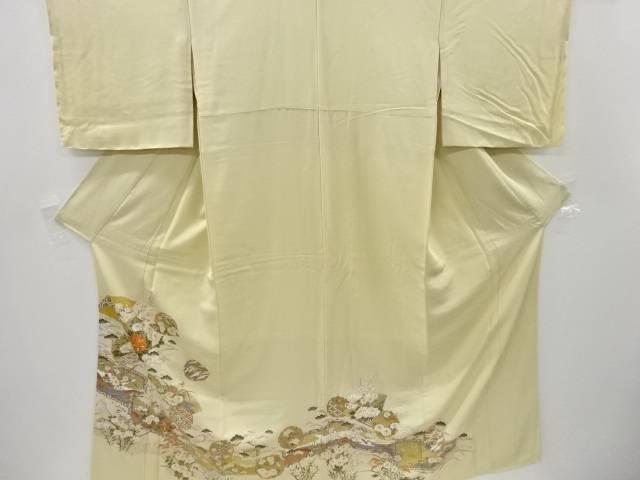 【IDnet】 未使用品 金彩屏風に雪輪・古典柄一つ紋色留袖【リサイクル】【着】