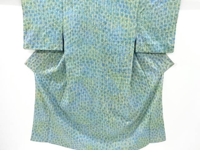 【IDnet】 草木染本絞り手織り節紬着物【リサイクル】【中古】【着】