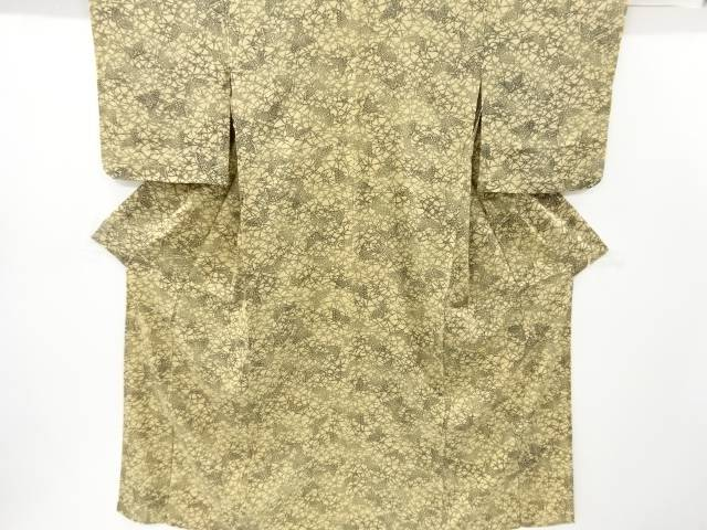 【IDnet】 駒絽型染花に蝶模様小紋着物【リサイクル】【中古】【着】