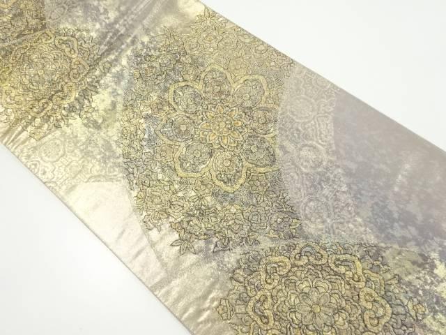 【IDnet】 本金青海波に華紋織り出し袋帯【リサイクル】【中古】【着】