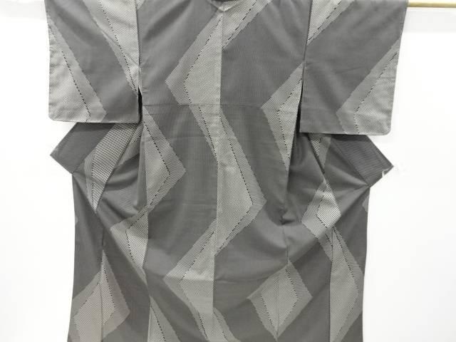 【IDnet】 幾何学模様織り出しお召着物【リサイクル】【中古】【着】